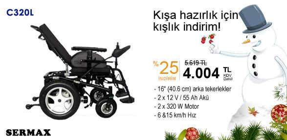 sermax c320 - [Kampanya SONA ERDİ] C320L Akülü Tekerlekli Sandalye