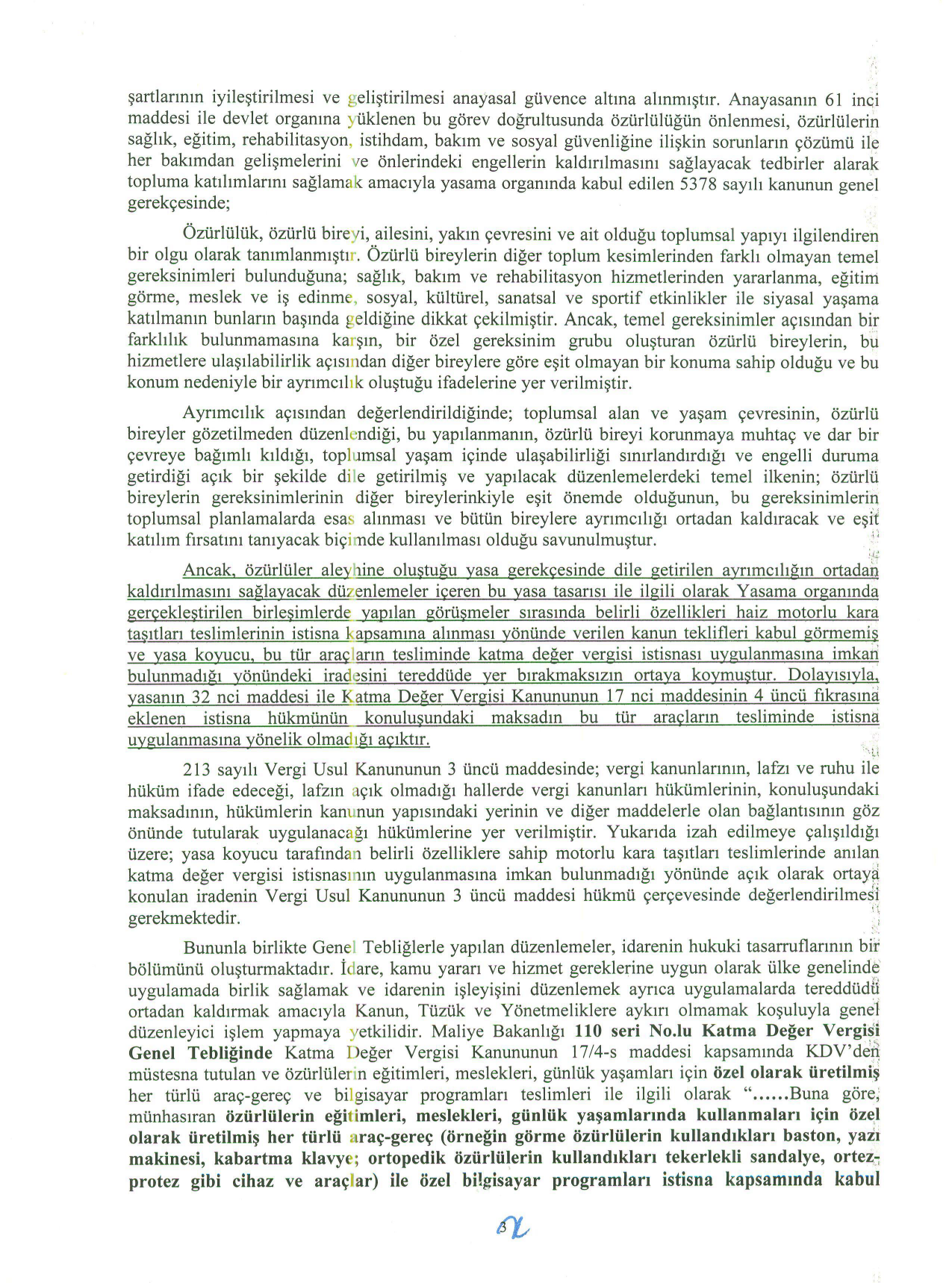 Istanbul BMVD savunma3 - Sakat statüsünde alınan araç için ödenen KDV'nin geri alınması işlemleri ve süreç