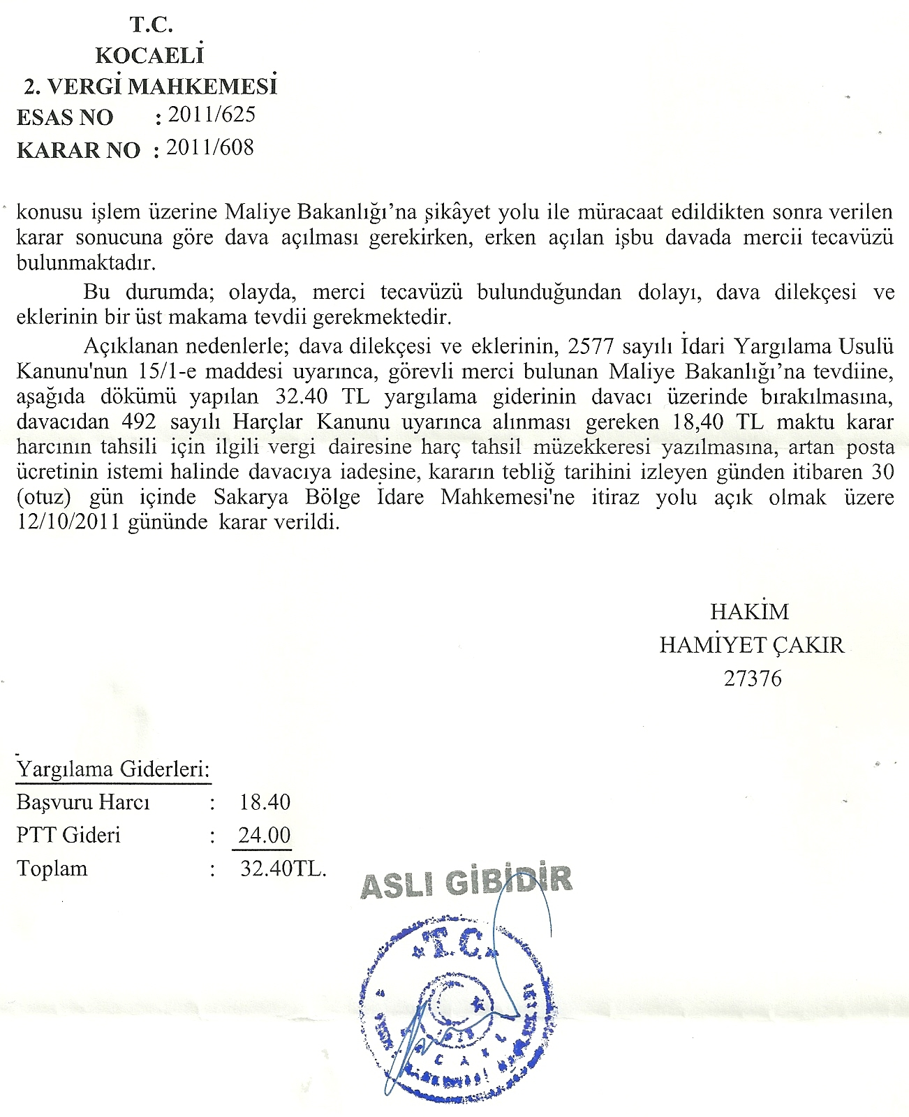 idarimercitecavuzu2 - Sakat statüsünde alınan araç için ödenen KDV'nin geri alınması işlemleri ve süreç
