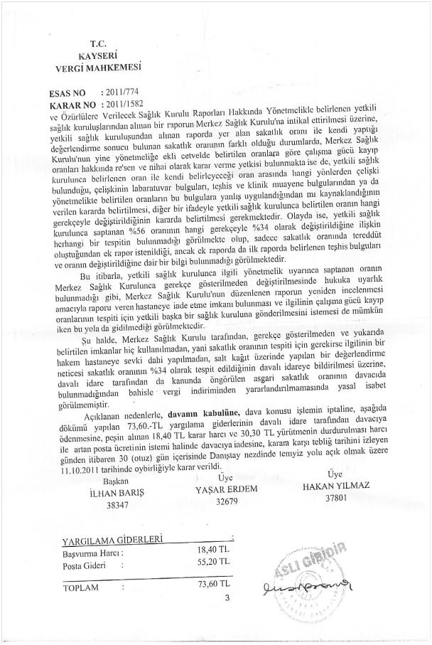 Maliye rapor dava 3 - Vergi indirim ba�vurumda %55 rapor Ankara'dan %19 olarak geldi. Ne yapmal�y�m?