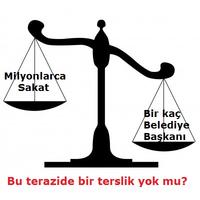 sakatlar terazi - Belediye başkanları istedi, Hükümet sakatları evlerine tıktı!
